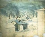 Magnus von Wright, Kylmä talviaamu Helsingissä,  1846