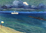 Rapallo, Seascape with Steamer. Wassily Kandinski 1906
