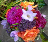Melva Rose and Grape Dahlia Bridal Bouquet