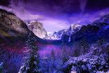 Yosemite winter landscape