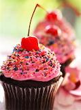 #Chocolate Cupcake with Cherries