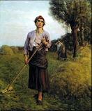 The Gleaner. Jules Breton