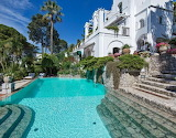 Luxury villa and pool on Amalfi coast Italy