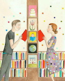 couple in the library