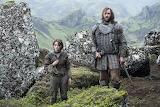 Sandor Clegane y Arya Stark