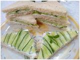 ^ Cucumber sandwiches
