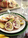Grape-stuffed pork loin