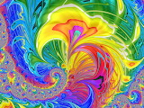 rainbow colored abstract