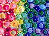 rainbow bottlecaps