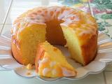 ^ Lemon cake with lemon glaze