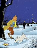 Tintin en hiver