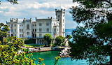 Lake Miramare Castle Italy