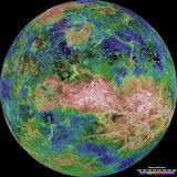 Hemispheric View of Venus Centered at 90 Degrees East Longitude