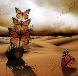 Butterfly ship desert mirage