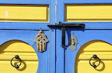 Morocco, entrance door, deadbolt, decorations, color