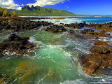 Kong Mountain Seascape, Kauai