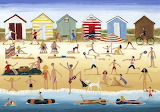 Beach Huts - Louise Braithwaite