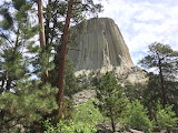 Devil's Tower on the trail up