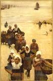 Fisher Girls on Beach, 1880, George Clausen