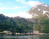 City scape Whittier Alaska