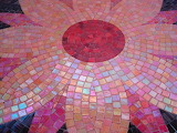 Mosaic in pinks