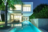 luxury modern home and pool