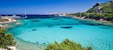 Sunny coast scene of Sardinia