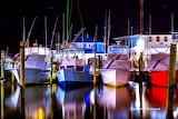 Boats in the marina at sundown