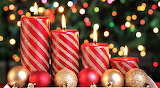 #Christmas Candles and Ornaments