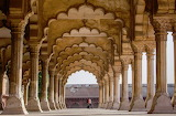 Complex Mughal palaces marble mosques India