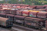 Station, depot, old, trains, goods, wagons, railway