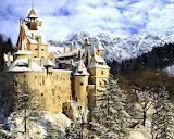Bran Castle Transylvania in Winter Romania