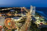 Myrtle Beach South Carolina Amusement Park At Night