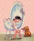 Ballet Girl and Puppy