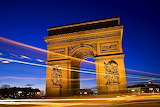 L'Arc De Triomphe, Paris, France...
