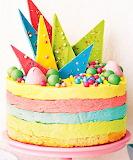 #Rainbow Ice Cream and Jelly Cake