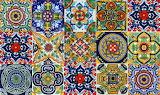 talavera tiles from Puebla, Mexico