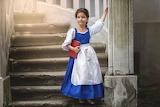 girl in Belle costume