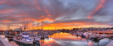 Harbor Sunset half moon bay california