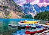 💙Moraine Lake Canoes, Canada...