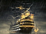 Stormy Night at Sea