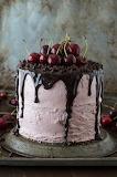 Cherry Cake with Chocolate Ganache