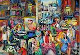 ^ Piano Bar at the Latin Quarter ~ Isabel Le Roux