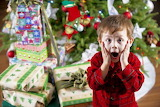 Christmas morning-Mom come and see how many gifts!