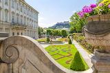 Castle and garden in Austria