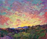 'Erin Hanson' impasto sunset