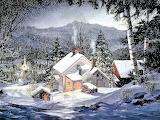 Nevicata in montagna