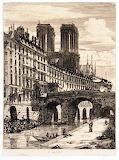 Le Petit Pont, Paris by Charles Meryon