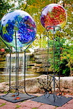 Colorful glass gazing balls