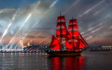 tall ship in st. petersburg